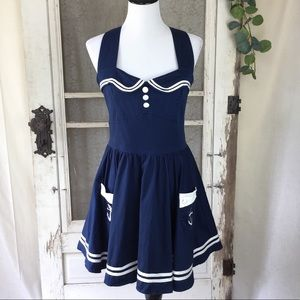 Hell Bunny Vixen Nautical Sailor Dress XL